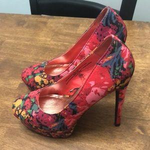 Target Xhilaration Floral platform heels